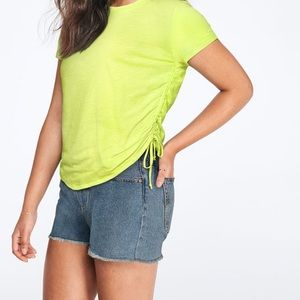 NWT Victoria's Secret PINK Ruched Side Tee